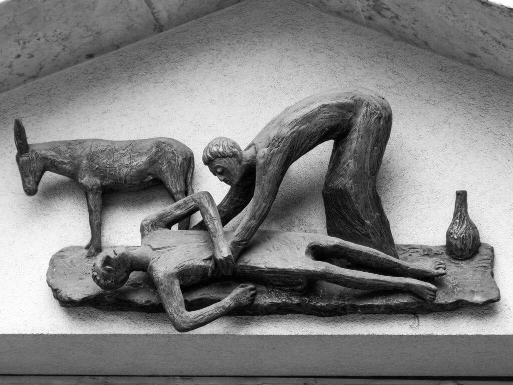 Photo describing love by the Good Samaritan