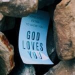 A paper saying God loves us