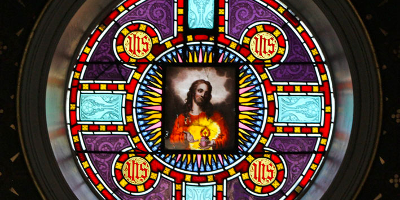 Icon of the Sacred Heart from Chapel at Maryvale Institute, Old Oscott, Birmingham, UK, house of Saint John Henry Newman